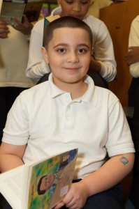Third-grader Trroy Garcia is the Earhart School's top-flight reader.