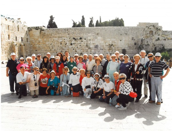 "A ""Bus Group"" at the Wall: participants on Federation's  first Miracle Mission, 1993"