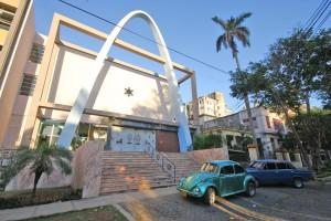 Havana's renovated Patronato Synagogue and JCC houses a library, social hall, classroom, youth center, computer room and the community pharmacy.  Photo: Julian Voloj, JDC