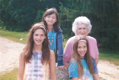At Bubbie Zaydie Family Camp 2013: Nora Stone with granddaughters, Sloan (14),  Marin (9) and  Keller (11)