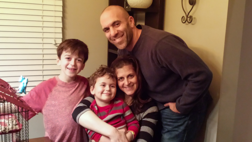 The Aronoff Family: Jeff, Tracy, Aiden and Cooper
