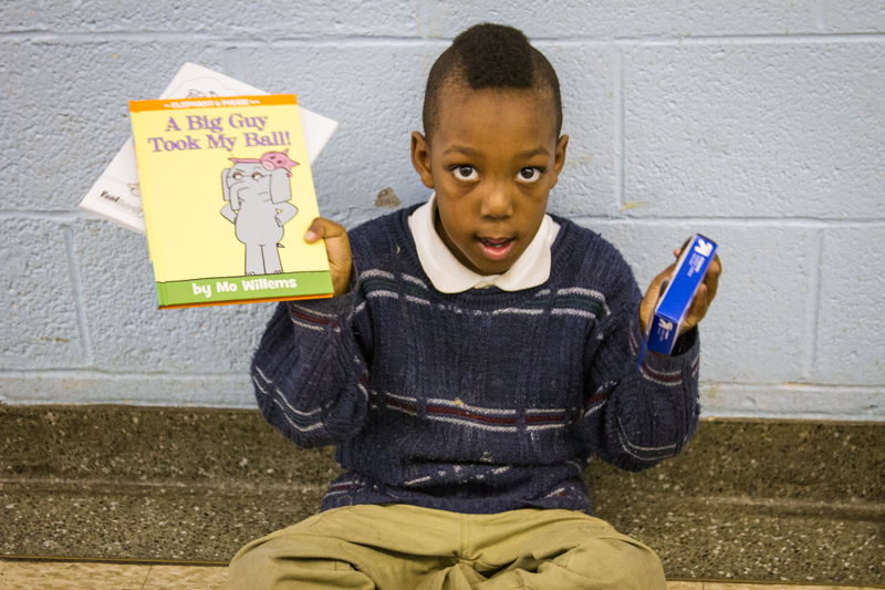 Emmanuel, in kindergarten at Bagley Elementary School