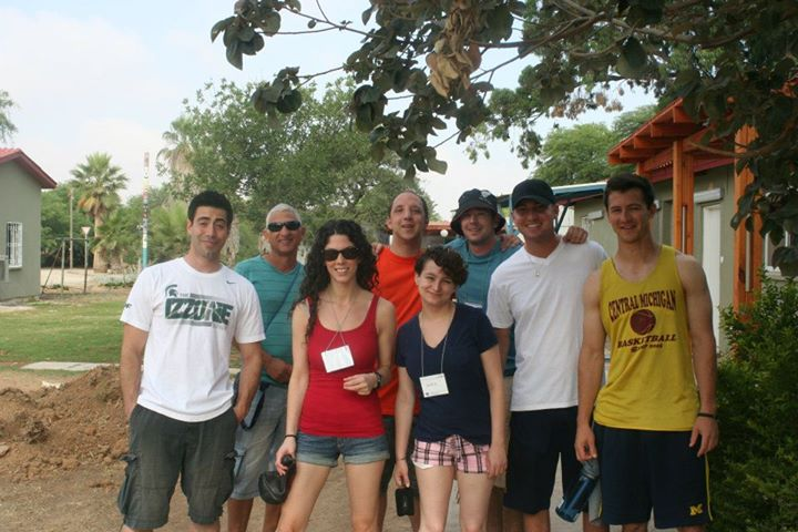 Jordan (far right) in Israel with friends on the Detroit Community Birthright trip, 2012