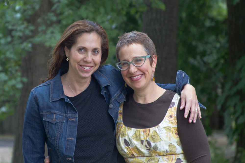 """""""T.A.G. teaming from the Detroit Jewish Federation, Julie Yaker and Lisa Soble Siegmann."""