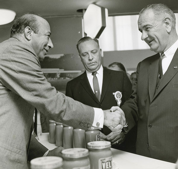 Paul Zuckerman and LBJ