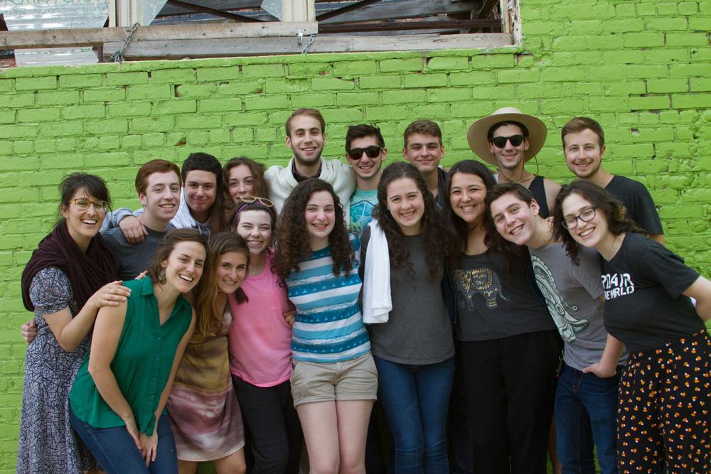 A PeerCorps group hug