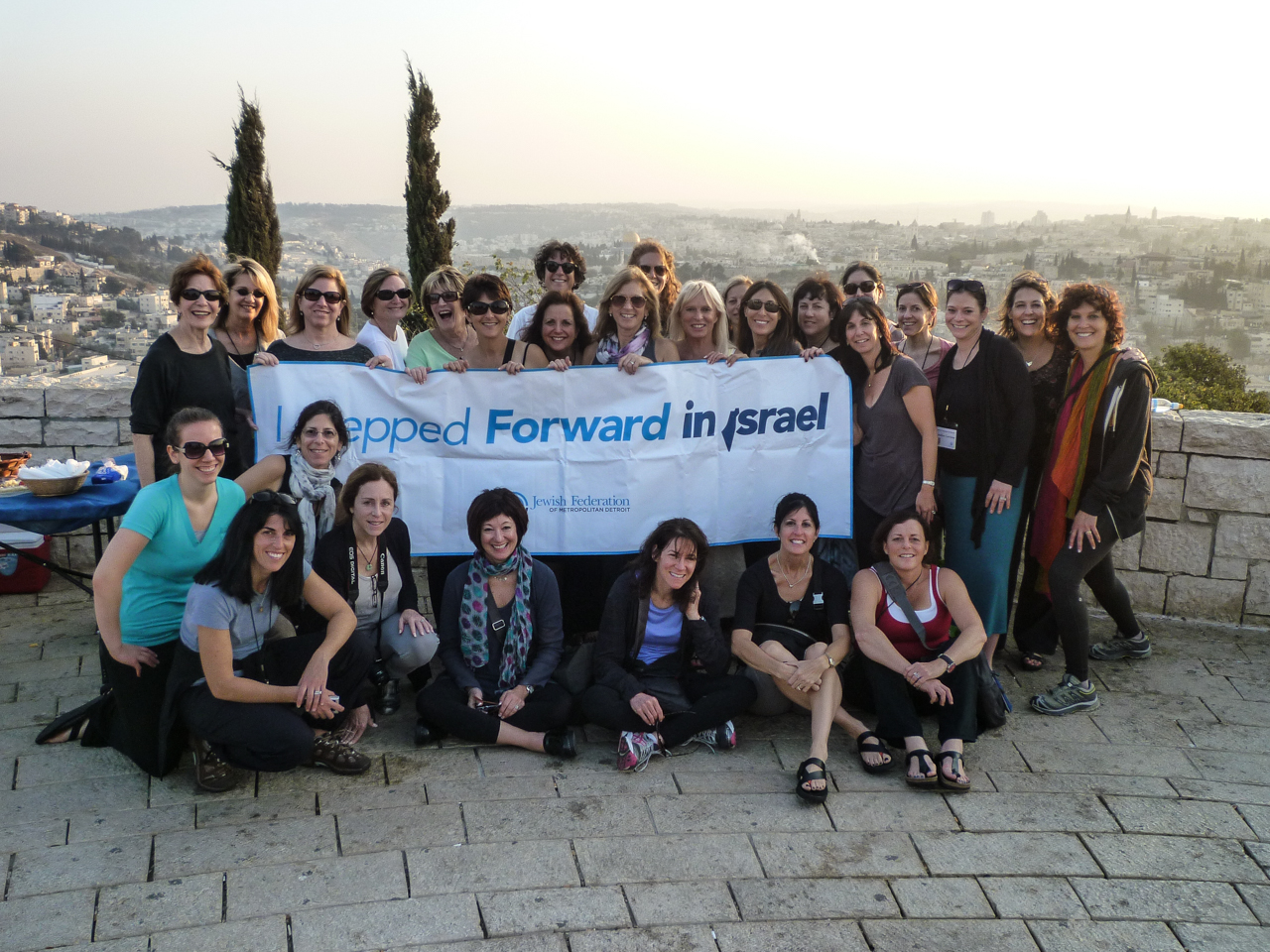 Stepping Forward: members of Federation's Women's Philanthropy on a Mosaic Mission to Israel.