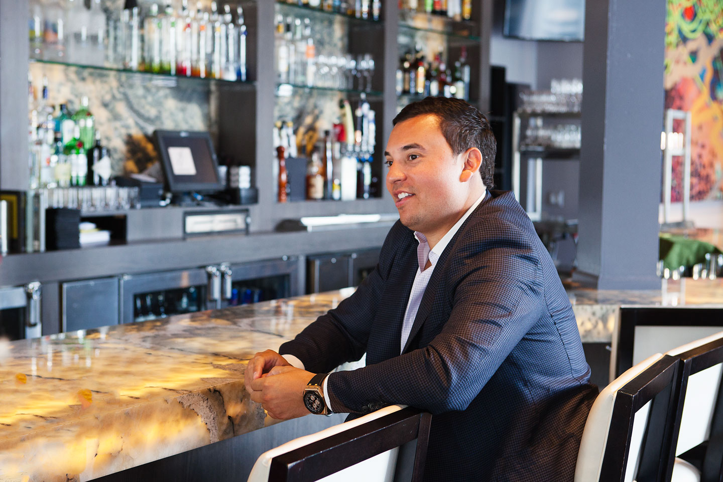 Aaron F. Belen, Principal of AFB Investments and AFB Hospitality Group, (Bistro 82, Sabrage and The Morrie)