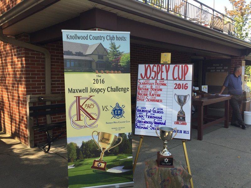 In its 2nd year, the Maxwell Jospey Golf Challenge between Franklin Hills and Knollwood Country Clubs raised more than $160,000 for the Jewish Federation's 2016 Annual Campaign.