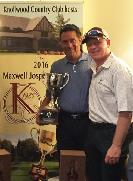 The winning team from Knollwood Country Club, Steve Schubiner and Jerry Byer.