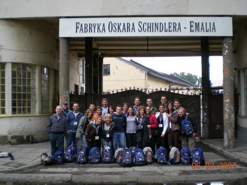 At the Oskar Schindler Factory Museum in Kraków,