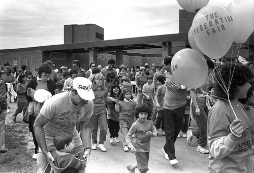 """Freedom Run"" at Federation's Community Fair_September 25, 1983"