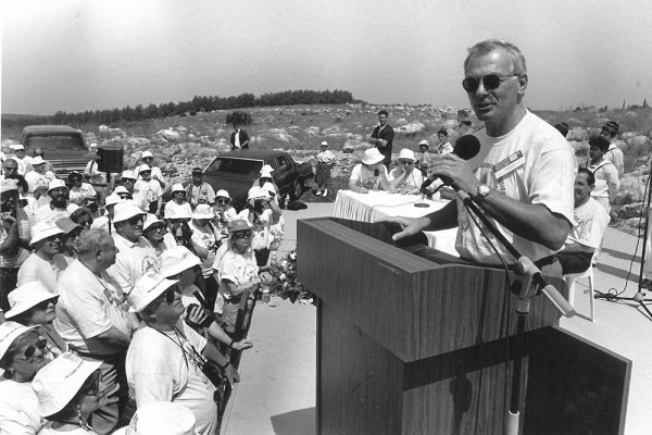 April 19, 1993: Joel Tauber in Modi'in with Michigan Miracle Mission