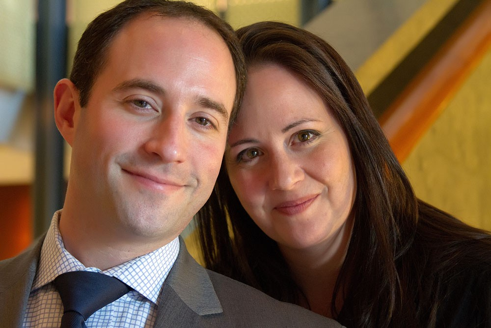 Hazzan Daniel Gross with his wife, Lauren