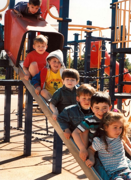 Dedicated in 1994. In a blink, 19 years have passed since the community built the playground at the Jewish Community Center in Oak Park.