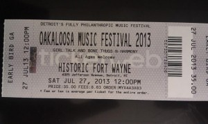 Oakloosa, Saturday JULY 27, 2013 Detroit's First Fully Philanthropic Music Festival