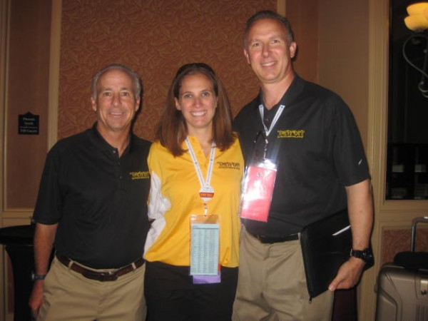 The 2014 JCC Maccabi Games & ArtsFest's Rick Zussman (co-chair), Ariella Monson (director) and Gary Sikorski (security).