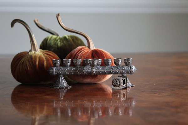 Menorah and pumpkins-9154