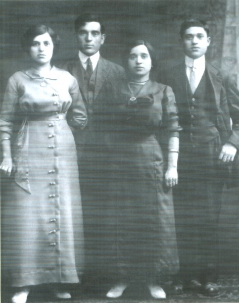 Jennie Chafetz and sibs from Lachwa, Russia, 1913