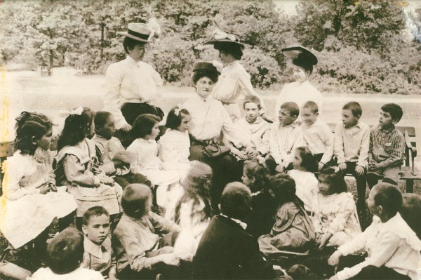 The Fresh Air Society on Belle Isle on a summer afternoon in 1905.