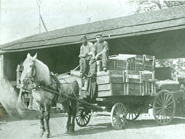 M. Jacob & Sons, early delivery service. Photo taken in 1905