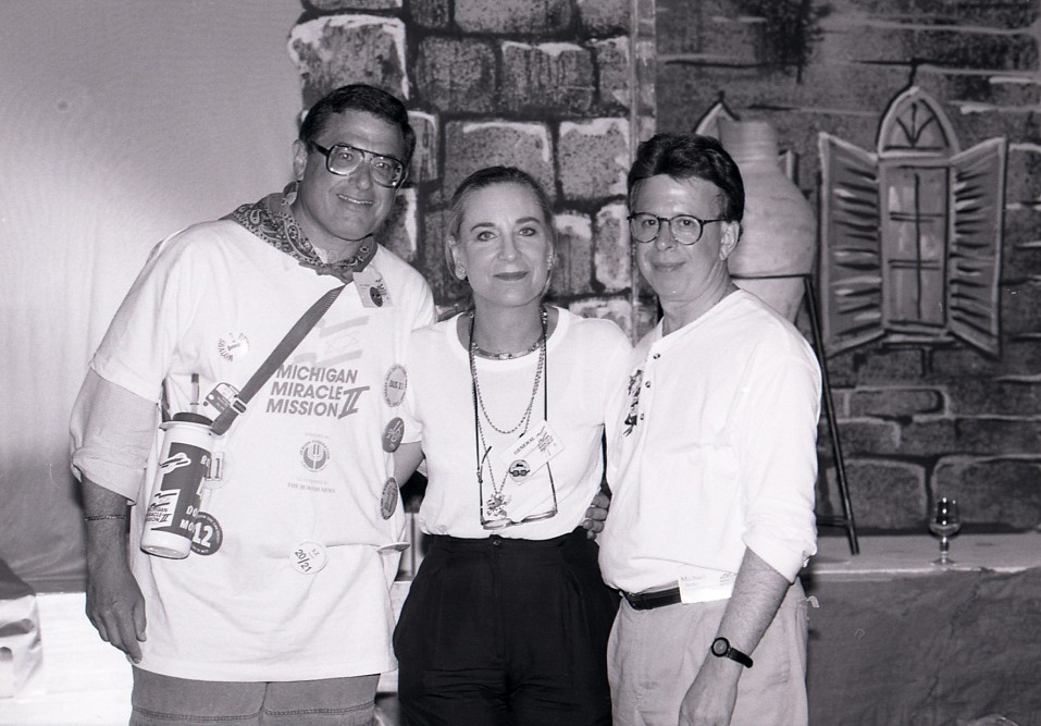 Larry Jackier, Co-Chair of Federation's Miracle Mission II with Jane Sheman and Michael Berke.  (1999)