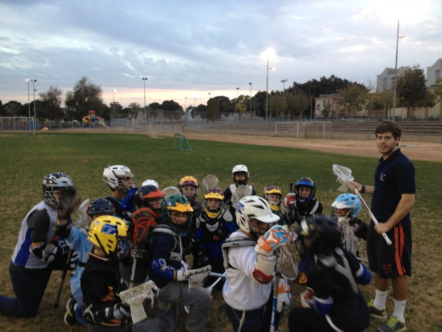 Blue Polo Program Director Matthew Cherry coaching U13 in Ashkelon.