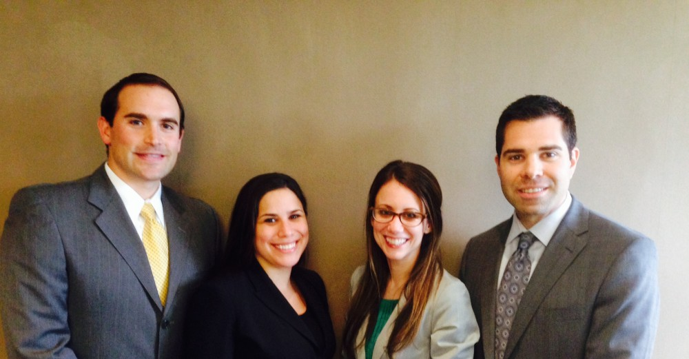 JBAM officers of the board: (l to r) Jonathan H. Schwartz, Ellie Mosko, Rachel Loebl and Andrew Cohen