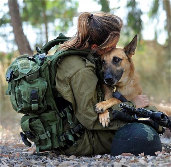 "A rare visit to the IDF's ""Oketz"" (""Sting"") Canine Unit reveals that both dogs and handlers are meticulously selected. Photo: Meir Azulay, Courtesy IDF"