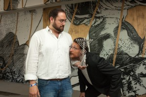 Benjamin Rosenzweig and Rabbi Yisrael Pinson