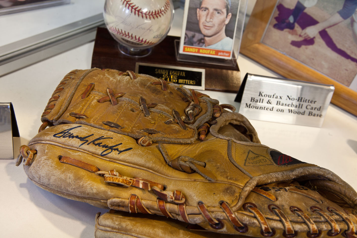 Sandy Koufax Glove and Baseball