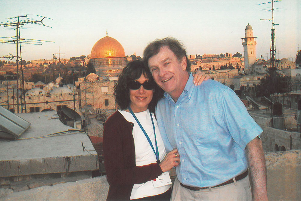 Nancy and Jim Grosfeld in Jerusalem
