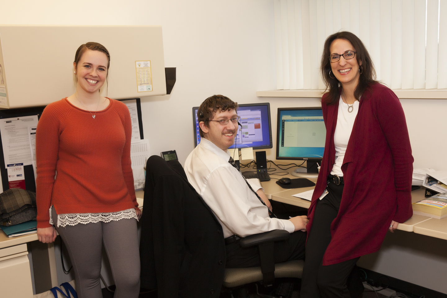 JHelp Resource Center Staff: (left) Brooke Flaggman, Boris Milter and Resource Center Director, Randee Black